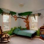 cizgi karakter desenli çocuk odasi
