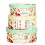 dekoratif 3lü saklama kutusu