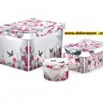 dekoratif saklama kutuları