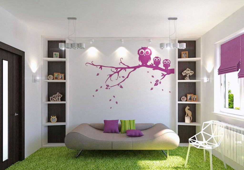 salon için baykuş duvar resmi