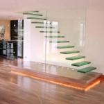 şık cam ev merdiven tasarımları