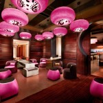 şaşırtıcı romantik pembe salon