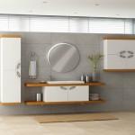 2015 İKEA banyo dolap modeli beyaz renk