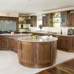 Ahşap amerikan mutfak mobilyaları