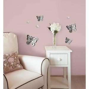 Kelebeklerin oluştuğu duvar ayna modeli