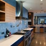 Klasik mavi mutfak modeli