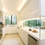 Modern minimalist amerikan mutfak