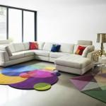 Renkli modern salon halıları