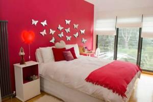Yatak odası kelebek modelleri duvar çıkartmaları