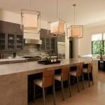 Yenilikçi amerikan mutfak içi oturma bölümü