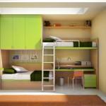 açık renk çocuk odası dolap modeli