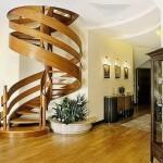 ahşap dönen merdiven modeli