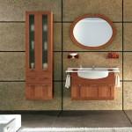 ahşap modern banyo dolap modelleri