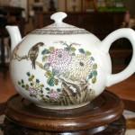 antika porselen demlik