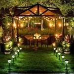 bahçenide romantik bir alan oluşturun