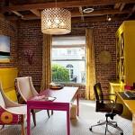beyaz sarı pembe renk ev dekorasyonu retro
