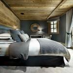 chalet tarzı yatak odası dekorasyonu