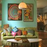 klasik stil dekoratif oturma odası