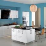mavi renkli mutfak dekorasyonu 6
