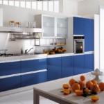 mavi renkli mutfak dekorasyonu 8