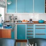 mavi renkli mutfak dekorasyonu 9