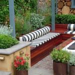 modern bahçe dekorasyonu