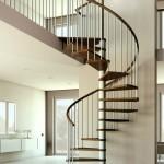 modern dairesel döner merdiven planı