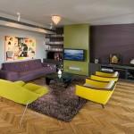 modern retro oturma odası