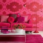 pembe gül rengi romantik oturma odaları