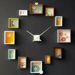 renkli çerçevelerden saat tasarımı