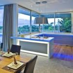 romantik mavi renk mutfak