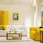 sarı renk retro tarz ez dekorasyonu
