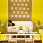 sarı ve kahve tonları retro stil dekorasyon