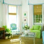 turkuaz yeşil oturma odası renk uyumu