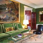 yeşil kadife retro mobilya fikirleri