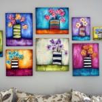 renkli el yapımı tablolar
