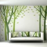 yeşil duvar resim modelleri