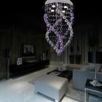 2015 spiral tasarım modern led ışık avize