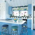 açık mavi mutfak