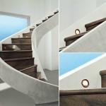 ahşap ışıklı merdiven tasarımları