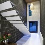 beyaz merdiven tasarımı