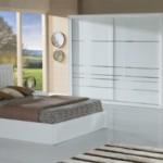 beyaz renkli kelebek mobilya yatak odası