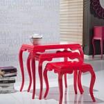 dekoratif modern zigon sehpa