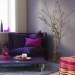 dekoratif mor renk orta sehpa
