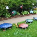 kaplumbağa bahçe dekoru