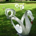 kuğu şeklindeki muhteşem bahçe tasarımları