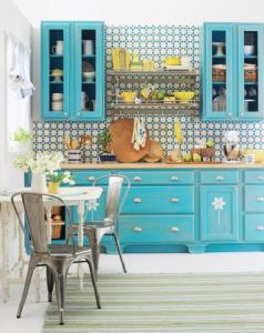 lacivert renkli mutfak dekorasyonu 10