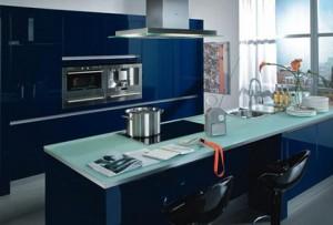lacivert renkli mutfak dekorasyonu 2
