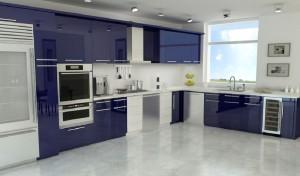 lacivert renkli mutfak dekorasyonu 3