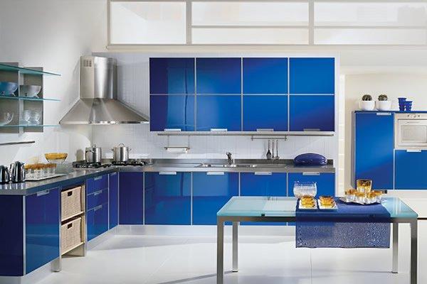 Mavi Renkli Mutfak Dekorasyonu Fikirleri